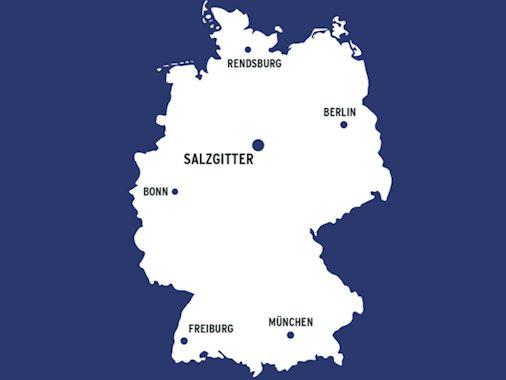 Standorte der Verwaltung und Zweigstellen des Bundesamtes für Strahlenschutz (BfS)