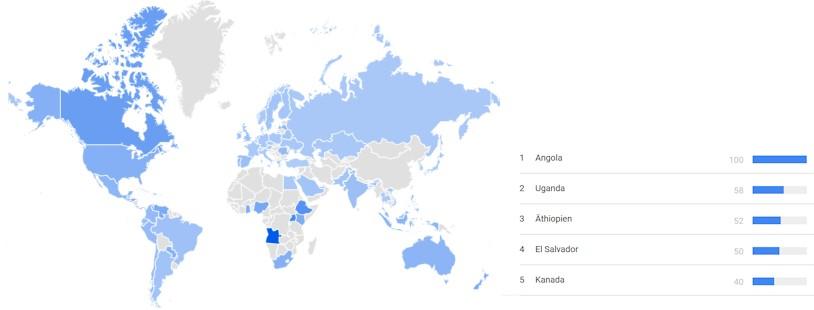 Grosses Interesse an Informationen zum Coronavirus Covid-19 bei Google Trends