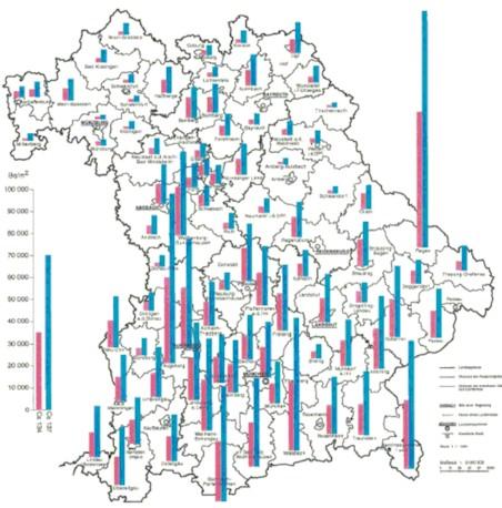 Bayern Cäsium 137 Bodenkontamiation