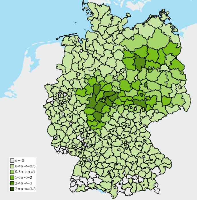 Wo leben Waschbären in Deutschland? Verbreitungskarte