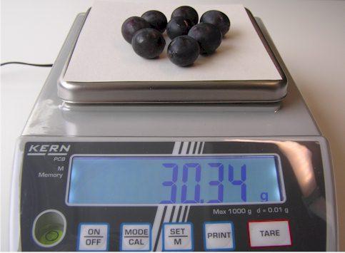 Zunächst muss das Frischgewicht der Weintrauben ermittelt werden, damit später das Trockengewicht bestimmt werden kann.